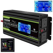 RRP £130.00 Novopal 1000W Pure Sine Wave Inverter 24V to 230V 240V Car Converter Power Inverter wi