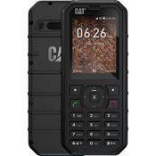 RRP £80.00 Caterpillar CAT B35 - Mobile Phone 4GB, 512MB RAM, Dual Sim, Black