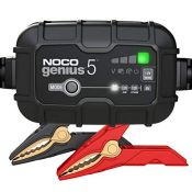 RRP £69.00 NOCO GENIUS5UK, 5-Amp Fully-Automatic Smart Charger, 6V And 12V Battery Charging Units