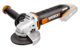 RRP £73.00 WORX WX800.9 18V (20V Max) Cordless 115mm Angle Grinder - Body Only