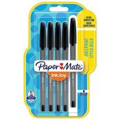Paper Mate InkJoy 100ST Ballpoint Pens | Fine Point (0.7 mm) | Black | 5 Count