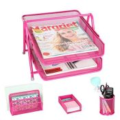 Exerz 4 Piece Office Set / Letter Trays / Organisers / Storage Modules - 2 Layers Lett