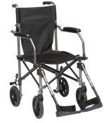 RRP £128.00 Drive TraveLite Lightweight Aluminium Folding Transport Chair in a Bag