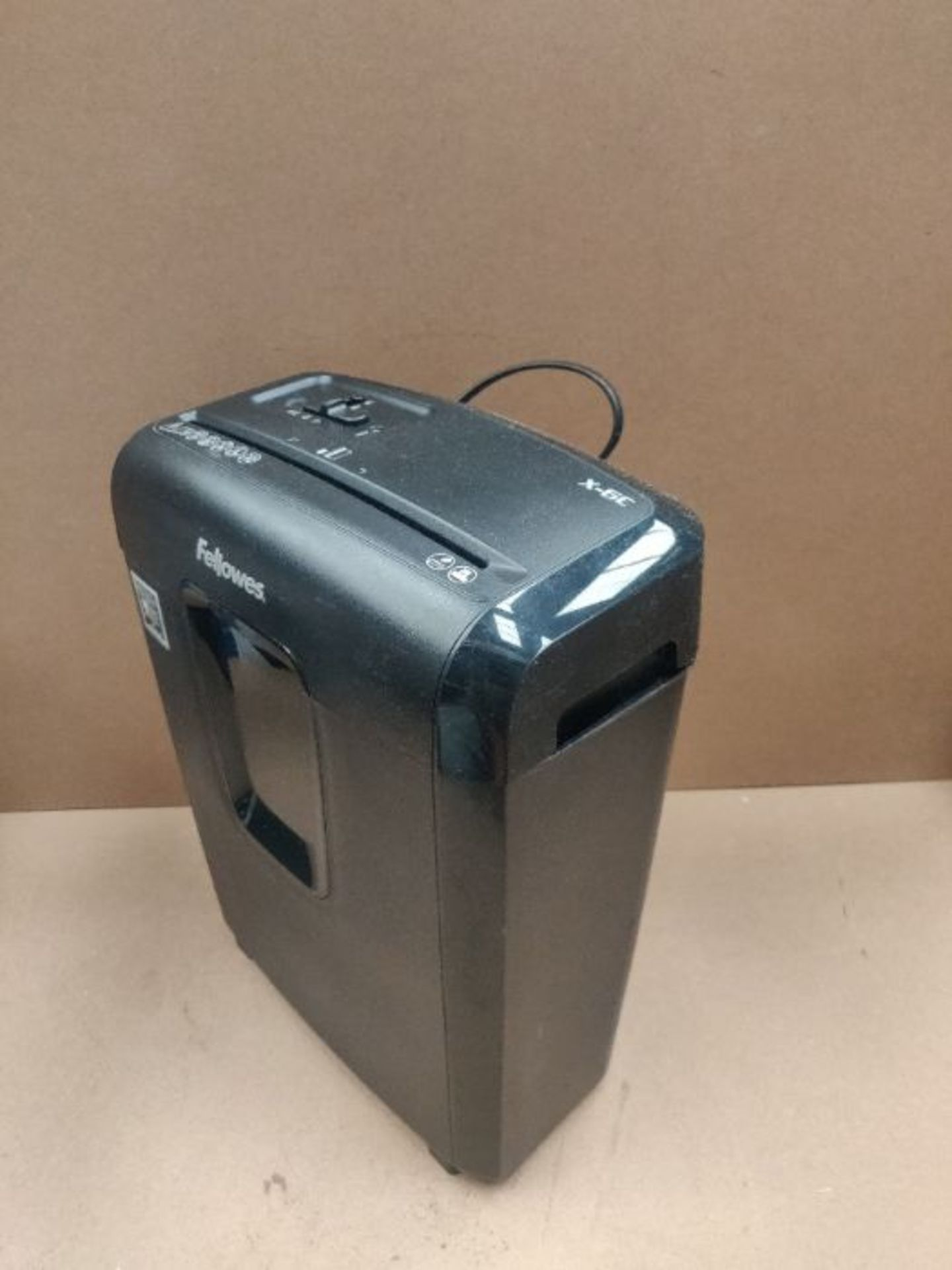 Fellowes Powershred X-6C Personal 6 Sheet Cross Cut Paper Shredder for Home Use - Excl - Image 2 of 2