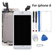 for iPhone 6 Screen Replacement White Touch Display LCD Digitizer Assembly With Front