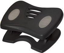 [CRACKED] Unilux Nymphea Ergonomic Footrest, Adjustable Height and Adjustable Tilt, Bl