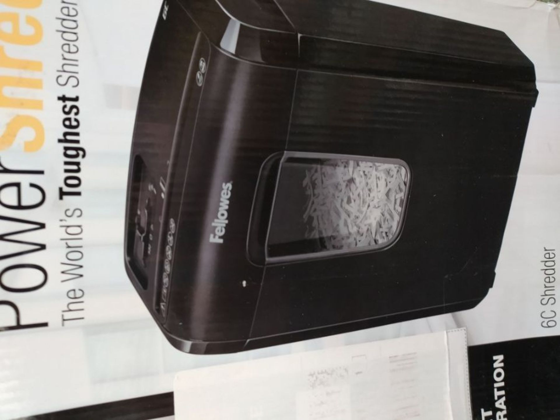 Fellowes Powershred 6C Personal 6 Sheet Cross Cut Paper Shredder for Home Use with Saf - Image 2 of 2