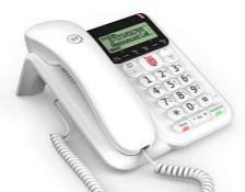 BT Decor Advanced Call Blocker Corded Telephone, White