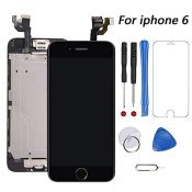 for iPhone 6 Screen Replacement Black Touch Display LCD Digitizer Assembly With Front