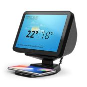 Echo Show 8 Stand with Wireless Charging, Adjustable Magnetic Mount Stand for Amazon E