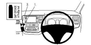 Brodit 654817 654817 ProClip Angled Mount for Mitsubishi Outlander 13 14
