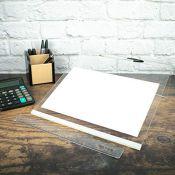 Premium Clear Acrylic Ergonomic Writing Slope, Anti Slip, Extra Wide, 20 Degree Angle