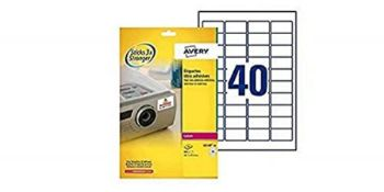 Avery L6140-20 Extra-Strong Adhesive TripleBond Labels, 40 Labels Per A4 Sheet