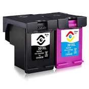 Facink Remanufactured 301 XL 301XL Black Colour Ink Cartridges for HP Officejet 2620 2