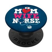 Mom Wife Nurse Doctor Mother Gift PopSockets PopGrip: Swappable Grip for Phones & Tabl