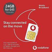 Vodafone Pay As You Go 20GB Data Sim 30 day