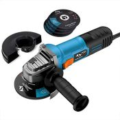 Angle Grinder 860W Tilswall 125mm Side Disc Grinder 12000RPM Tool with 3 Cut Off and 2