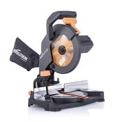 RRP £65.00 Evolution Power Tools R210CMS Compound Mitre Saw With Multi-Material Cutting, 45° Bev