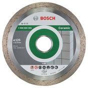 Bosch 2608602202 Ceramic Diamond Cutting Disc, 125mm, 22.23mm x 1.6mm x 7mm, Silver