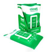 Clinell CW70R Universal Cleaning and Disinfecting Wipes for Home - Kills 99.99% of Ger