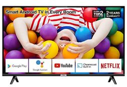 RRP £199.00 TCL 32P500K 32-Inch LED Smart Android TV HD, HDR, Micro Dimming, Netflix, YouTube, DVB
