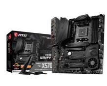 RRP £256.00 MSI MEG X570 UNIFY Motherboard 'ATX, AM4, DDR4, LAN and 802.11AX Wi-Fi, USB 3.2 Gen2,