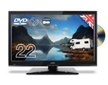 RRP £159.00 Cello C22230F-Traveller 22-Inch Full HD Traveller 12 V TV with DVD and Satellite Tuner
