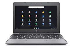 RRP £171.00 HP Chromebook 11-v001na 11.5 Inch Laptop - (Silver) (Intel N3060, 4 GB RAM, 16 GB eMMC