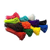 Coloured Cable Ties, 1200pcs 2.5mm*100mm Zip Ties Nylon Cable Zip Ties for Indoor and