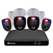 RRP £499.00 Swann Security 4K Enforcer CCTV System, 2 TB DVR-5680 and 4 x PRO-4KRL Enforcer Bullet