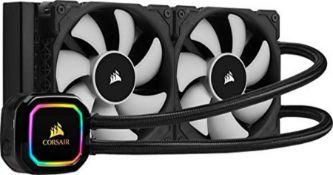 RRP £114.00 Corsair iCUE H100i PRO XT RGB Liquid CPU Cooler (240mm Radiator, Two 120mm Corsair ML