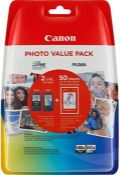 RRP £89.00 2 X PG-540XL and CL-541XL Photo Value Pack - Multi-Coloured