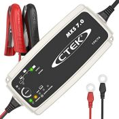 RRP £99.00 CTEK MXS 7.0 Fully Automatic Battery Charger (Charges, Maintains and Reconditions Car,
