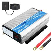 RRP £194.00 Pure Sine Wave Power Inverter 2000W DC 12V to AC 240V converter with remote controller