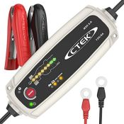 RRP £66.00 CTEK MXS 5.0 Battery Charger with Automatic Temperature Compensation