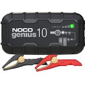 RRP £119.00 NOCO GENIUS10UK, 10-Amp Fully-Automatic Smart Charger, 6V And 12V Battery Charging Uni