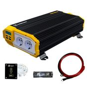 RRP £93.00 K KRIËGER 1500 Watts Power Inverter 12V to 230V, Modified Sine Wave Car Inverter, Dua