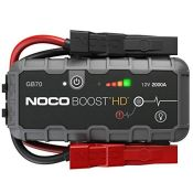 RRP £156.00 NOCO Boost HD GB70 2000A 12V UltraSafe Starthilfe Powerbank, Tragbare Auto Batterie Bo