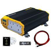 RRP £64.00 K KRIËGER 1100 Watts Power Inverter 12V to 230V, Modified Sine Wave Car Inverter, Dua