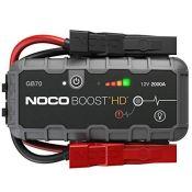 RRP £192.00 NOCO Boost HD GB70 2000 Amp 12-Volt UltraSafe Portable Lithium Jump Starter, Car Batte