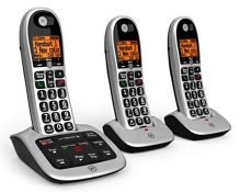 RRP £74.00 BT 4600 Big Button Advanced Call Blocker Home Phone with Answer Machine (Trio Handset