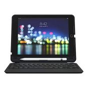 "RRP £67.00 ZAGG Slim Book Go - Bluetooth Keyboard and Case - Made for Apple iPad 10.2"" - Black (U"