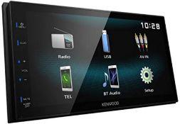 RRP £147.00 Kenwood DMX120BT Digital Media Receiver mit 17,3 cm Hochglanz-Touchpanel, Bluetooth, A