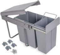 RRP £51.00 Nisorpa Multi Container Waste Pull Out Kitchen Cabinet Cupboard Bin Sliding Recycle Ki