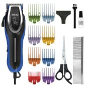 Wahl Dog Clippers, U-Clip Dog Grooming Kit with Colour Coded Combs, Full Coat Dog Groo