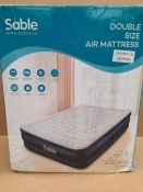 RRP £70.00 Air Bed Inflatable Sable Double Size Airbed, Air Mattress Upgraded Blow up Bed with Bu