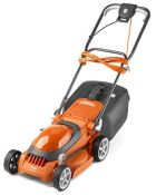 RRP £100.00 Flymo EasiStore 340R Electric Rotary Lawn Mower - 34 cm Cutting Width, 35 Litre Grass