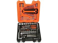 "RRP £133.00 Bahco S138 Socket & Mechanical Set, Metric/AF 1/4"", 3/8"", 1/2"" Drive, 138 Pieces"