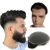 RRP £158.00 N.L.W. Mens toupee hair replacement System human hair system hairpiece Swiss Lace base