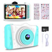 RRP £81.00 WOWGO Kids Digital Camera - 12MP Children's Selfie Camera with 3.5 Inches Large Screen